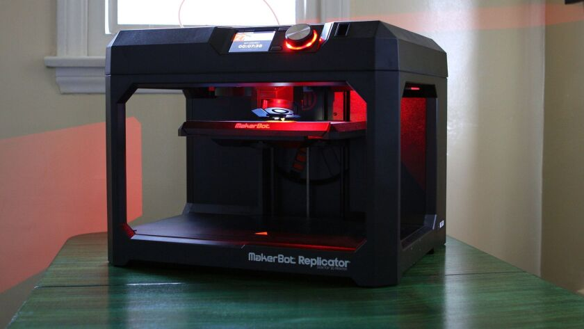 """The 3-D printer the author tested. One issue: """"It's like living with R2-D2 – who never shuts off."""""""