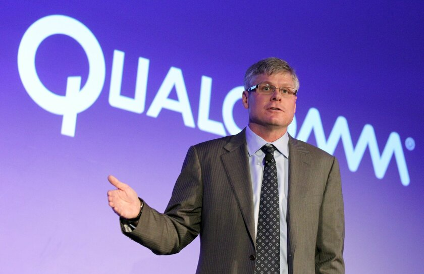 Qualcomm CEO Steve Mollenkopf, shown here in a file photo, announced cost cutting moves by the company on Wednesday