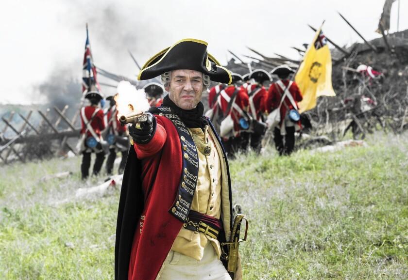 "Gen. Thomas Gage (Marton Csokas) in ""Sons of Liberty."""