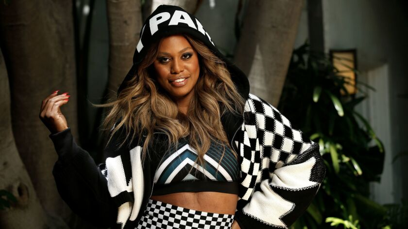Actress Laverne Cox is one of the faces of Ivy Park's fall campaign. New merchandise from Beyoncé's line drops Wednesday.