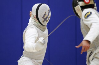 Fencing is serious business at UCSD