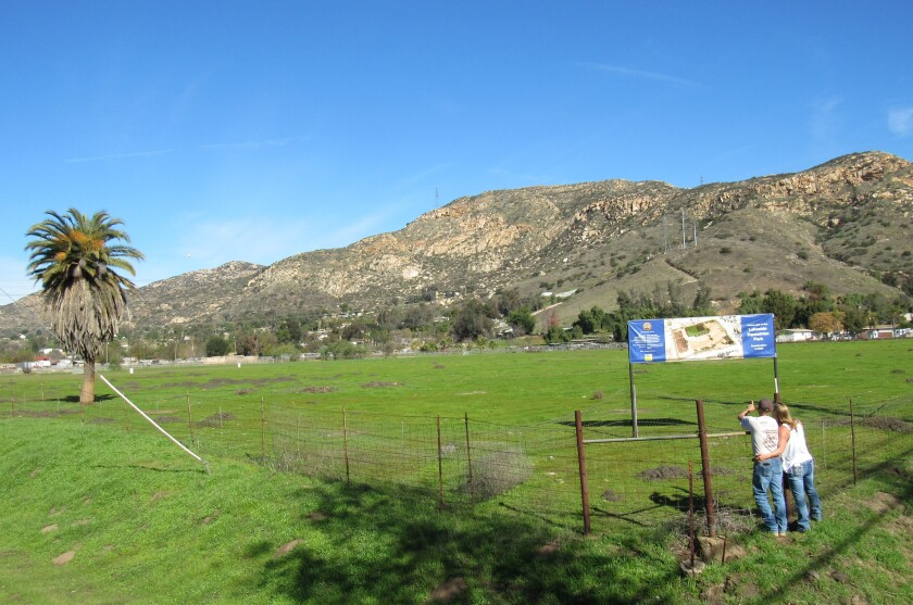 The rural East County town of Lakeside, which raised its new community sign last July, will be getting an equestrian park by 2021.