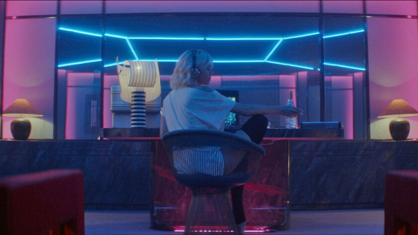 "Charlize Theron in the action thriller ""Atomic Blonde."""
