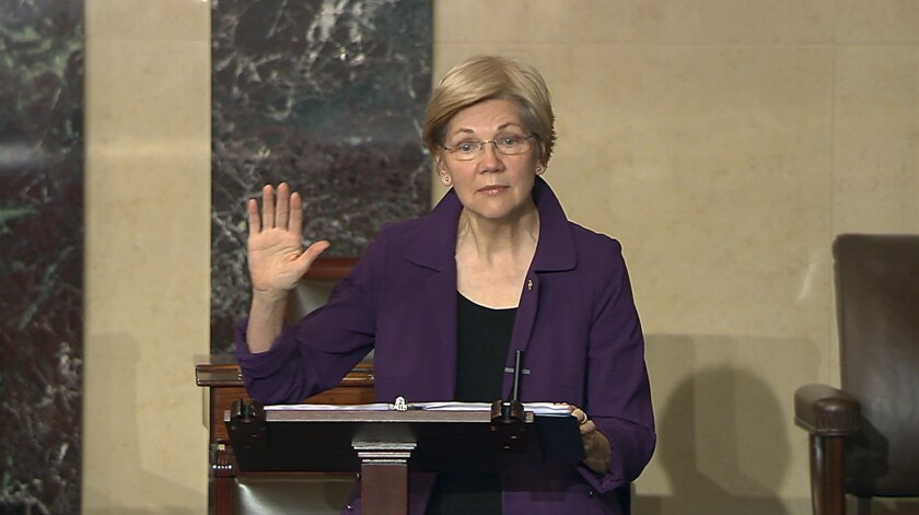 Column: What's behind Elizabeth Warren's rise? It's the logic, stupid