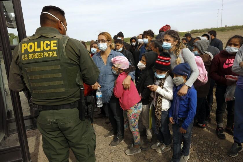 Asylum seekers detained by Border Patrol