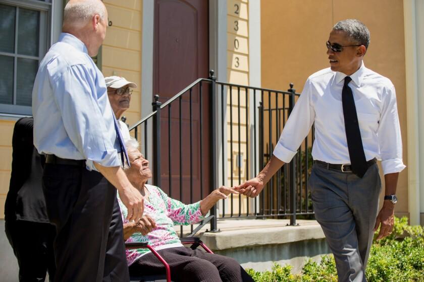 President Obama and Mitch Landrieu