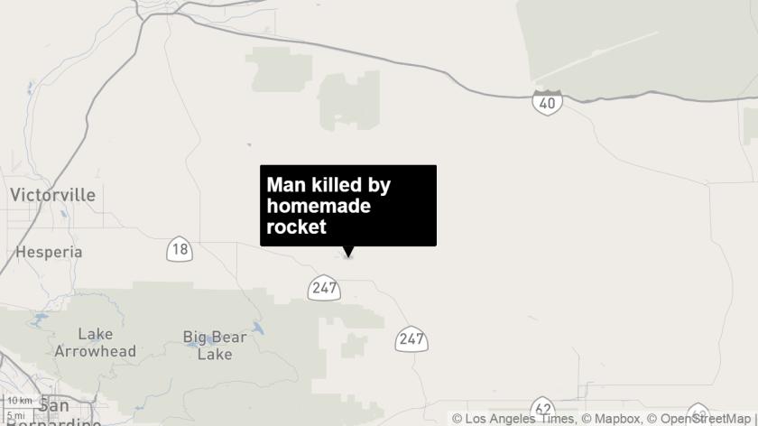 Man killed by homemade rocket