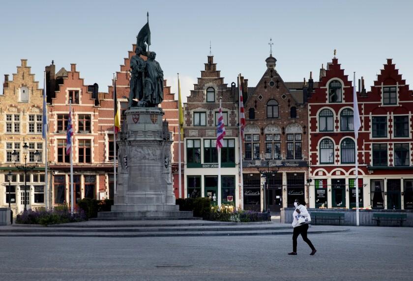 Virus Outbreak Belgium Tourism
