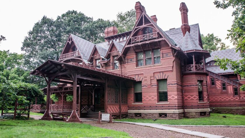 Mark Twain's House in Hartford during summer day