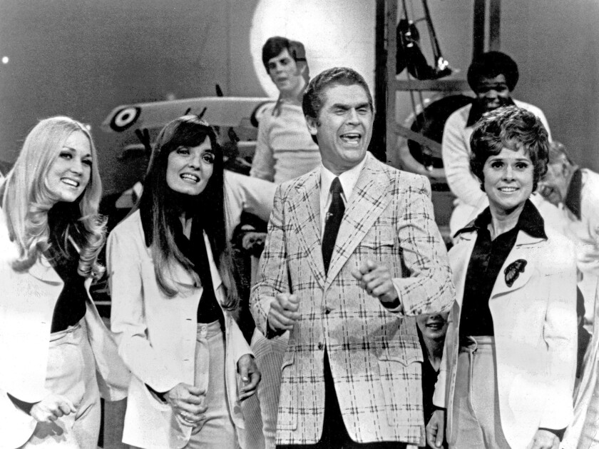 """Johnny Mann and his Johnny Mann Singers on """"Stand Up and Cheer."""""""