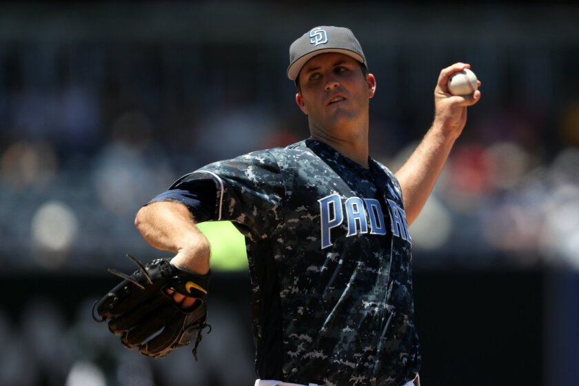 SAN DIEGO, CA - JUNE 19: Drew Pomeranz #13 of the San Diego Padres pitches during the first inning of a baseball game against the Washington Nationals at PETCO Park on June 19, 2016 in San Diego, California. (Photo by Sean M. Haffey/Getty Images) ** OUTS - ELSENT, FPG, CM - OUTS * NM, PH, VA if sourced by CT, LA or MoD **