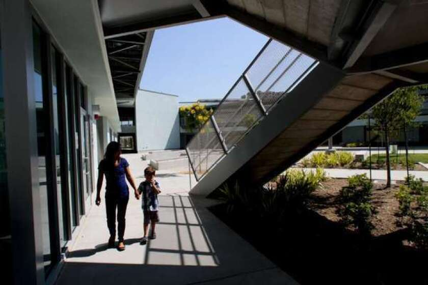 Playa Vista Elementary School opened this year in the planned community near Marina del Rey.