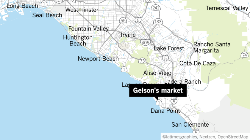 Map of Gelson's market