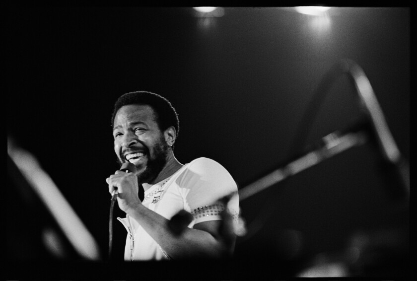 Marvin Gaye in concert at the Forum.