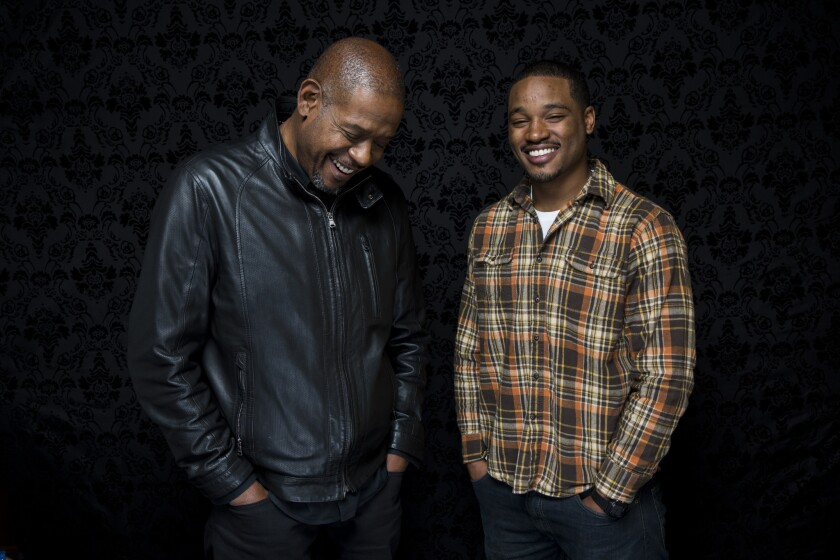 """Fruitvale"" director Ryan Coogler, right, with producer Forest Whitaker, at the Sundance Film Festival."