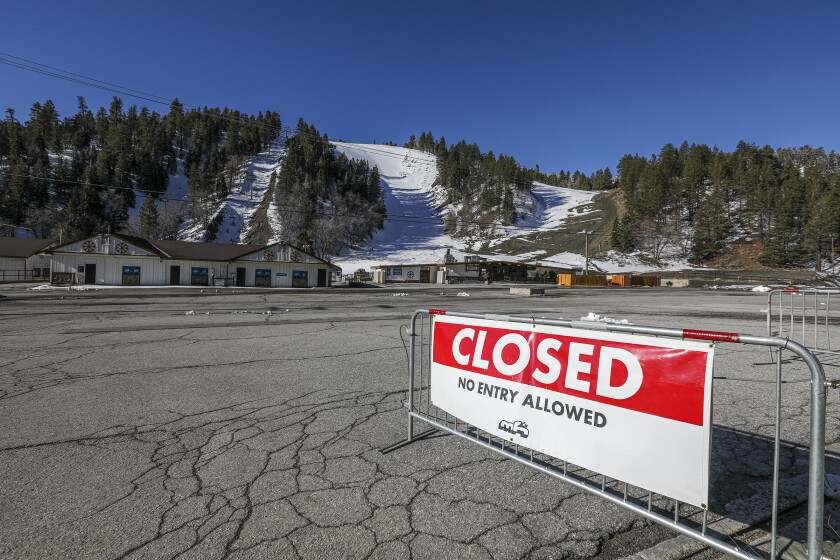 "Mountain High ski lifts and slopes are closed. As a post on Mountain High's website put it, ""If it weren't for the coronavirus, we'd be experiencing the best spring in years."""