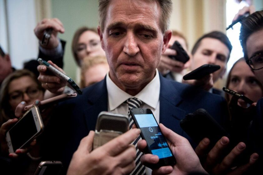 Sen. Jeff Flake (R-Ariz.) is one of a handful of lawmakers who will decide the fate of embattled Supreme Court nominee Brett Kavanaugh amid controversy over sexual assault allegations.