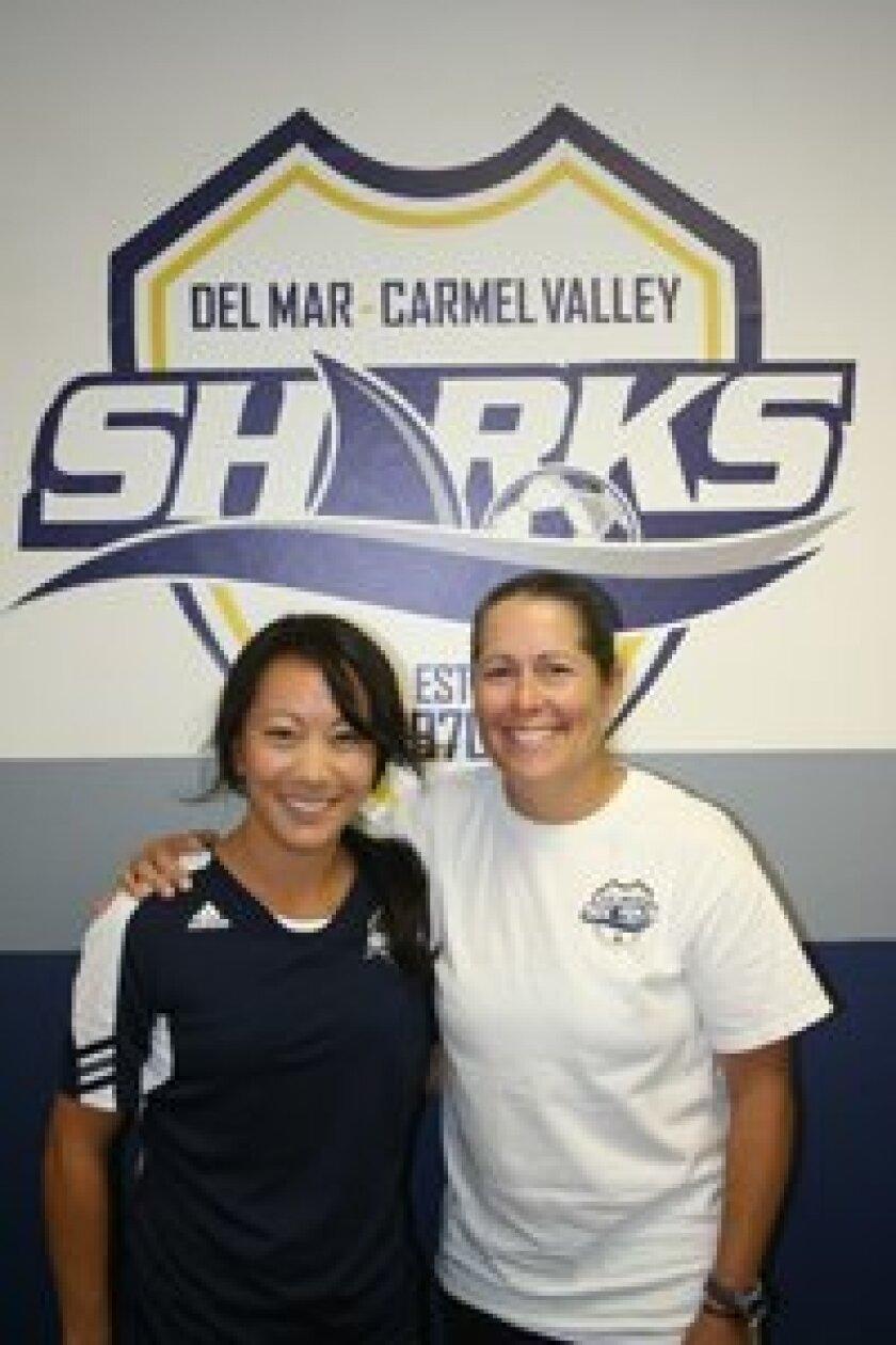 DMCV Sharks director of recreation Erin Misaki and director of club operations Shannon MacMillan. Photo/Karen Billing