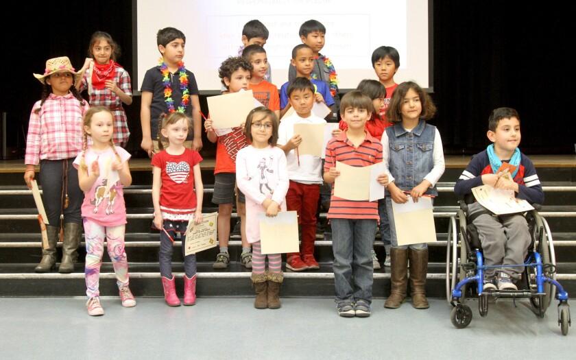 Lincoln Elementary School receive Honesty Trustworthyness Award
