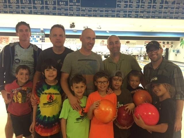 Top row: Brian Quesnell, Craig Chessmore, Kyle Williams, Jeff Ricards, Dan Weaver; Bottom row: Ethan Quesnell, Ken Chessmore, Wyatt and Owen Williams, Magnus and Anders Ricards, Cash Weaver