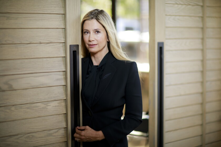 LOS ANGELES, CALIF. -- THURSDAY, NOVEMBER 1, 2018: Actress Mira Sorvino poses for a portrait at Nora