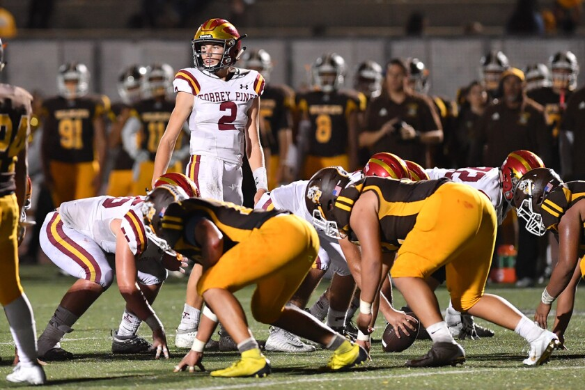 Torrey Pines played El Camino in its Avocado League opener on Sept. 20. El Camino won 32-25.