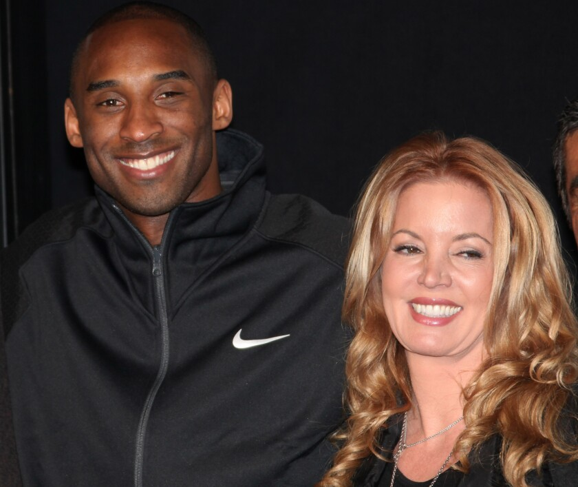 Kobe Bryant and Jeanie Buss