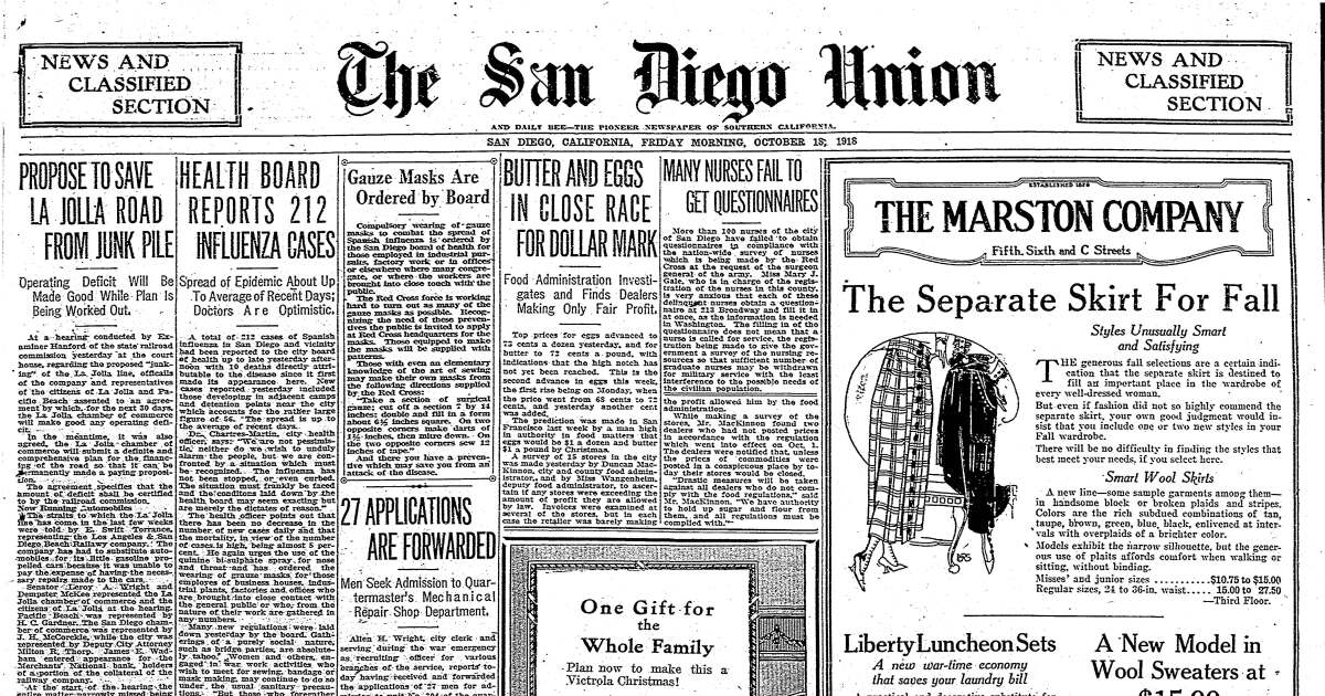 From the Archives: Parallels to the 1918 flu pandemic are evident 102 years later