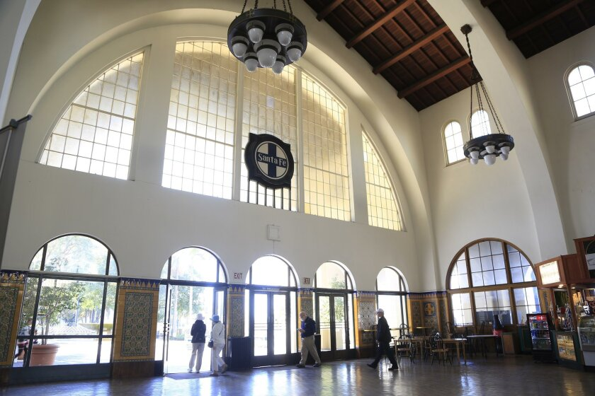 The interior of the depot, with its distinctive arches.