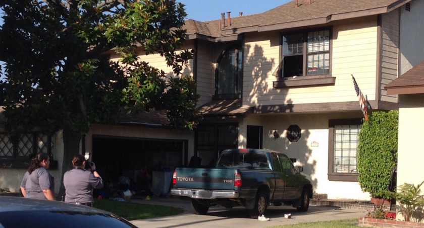 Long Beach police released a photo of the home where they had responded to complaints that a man was under the influence of narcotics.