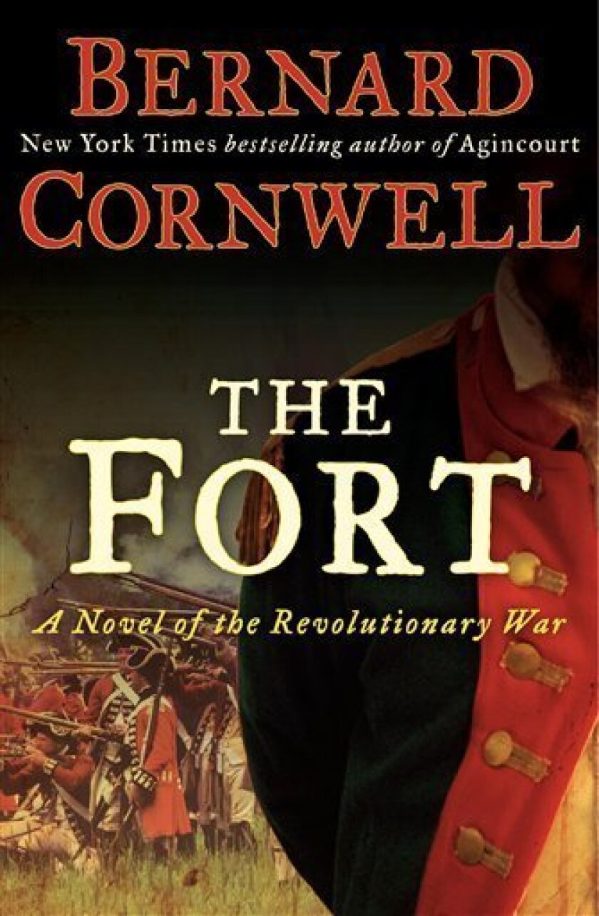 """In this book cover image released by Harper, """"The Fort: A Novel of the Revolutionary War"""", by Bernard Cornwell, is shown. (AP Photo/Harper)"""
