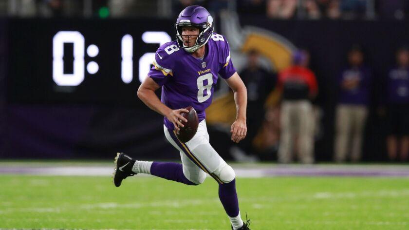 Minnesota Vikings quarterback Sam Bradford.