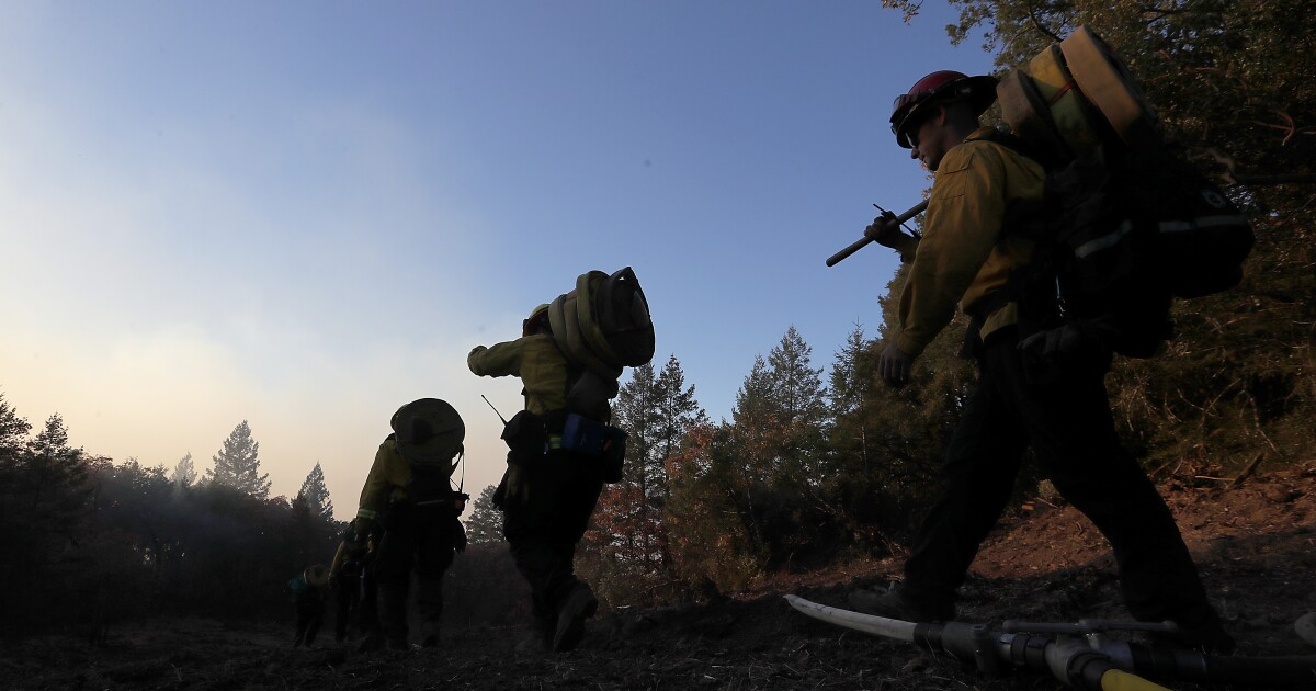 Fire to ice in wine country: Kincade fire containment grows, just in time for a frost