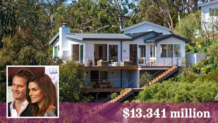 Cindy Crawford and Rande Gerber have sold their 1.4-acre spread in Malibu for $13.341 million.