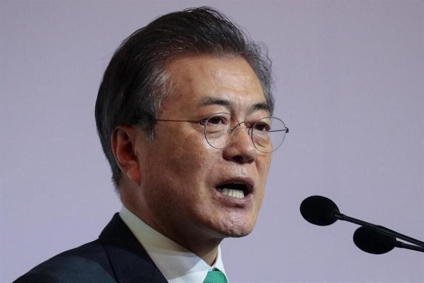 El presidente de Corea del Sur, Moon Jae-in. EFE/Archivo