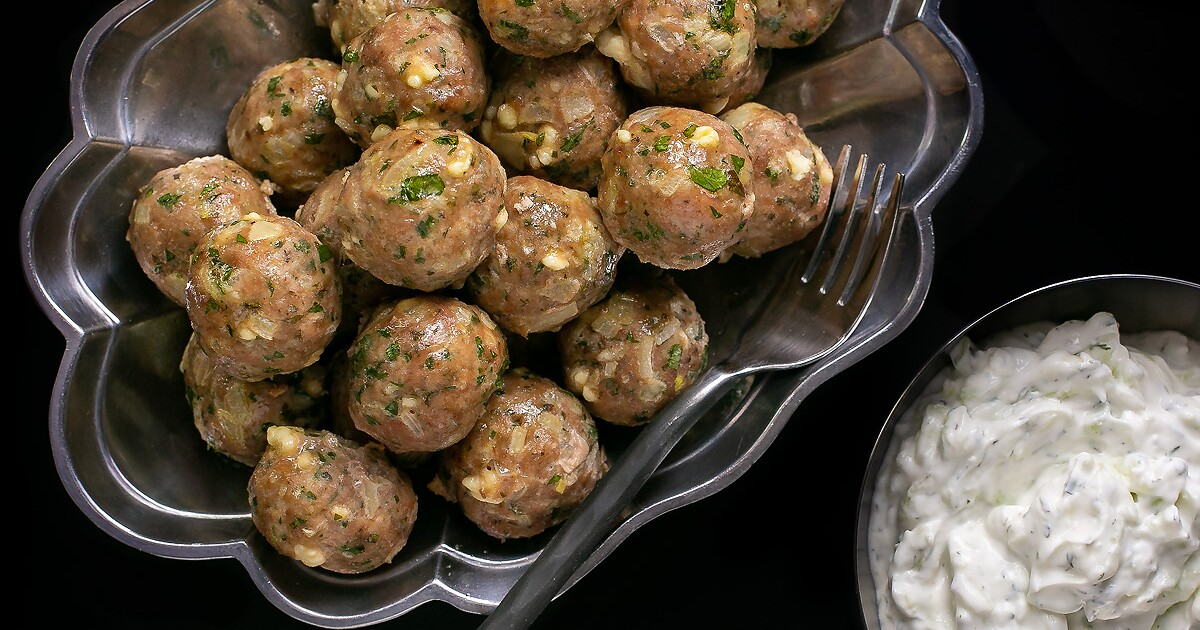Greek-inspired meatballs make a quick, healthy midweek meal