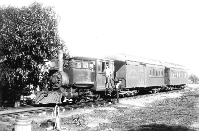 A San Diego, Pacific Beach and La Jolla train circa 1895.