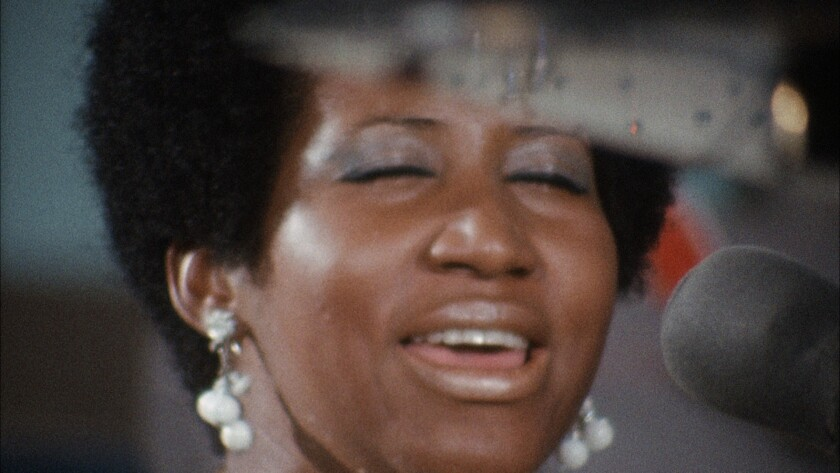 "Aretha Franklin in a scene from the movie ""Amazing Grace."""