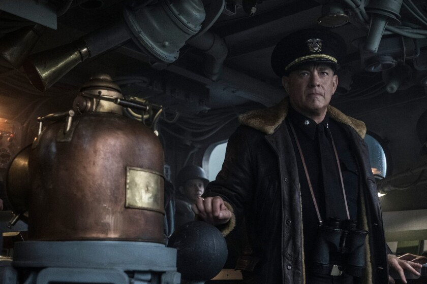 "Tom Hanks in the movie ""Greyhound."""