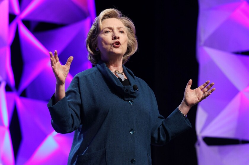 """Whenever I would say to a young woman, 'I want you to do this. I want you to take on this extra responsibility. I want you to move up,' almost invariably they would say 'Do you think I can?' or 'Do you think I'm ready?'"" says former Secretary of State Hillary Rodham Clinton."