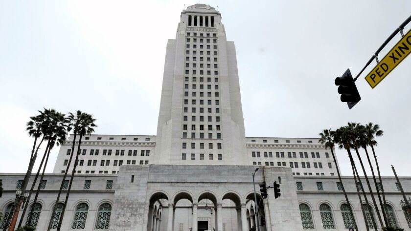 The tower of Los Angeles City Hall
