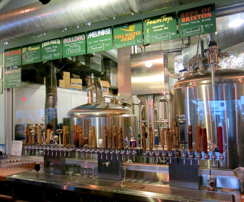 The lineup at Beachwood BBQ and Brewing.
