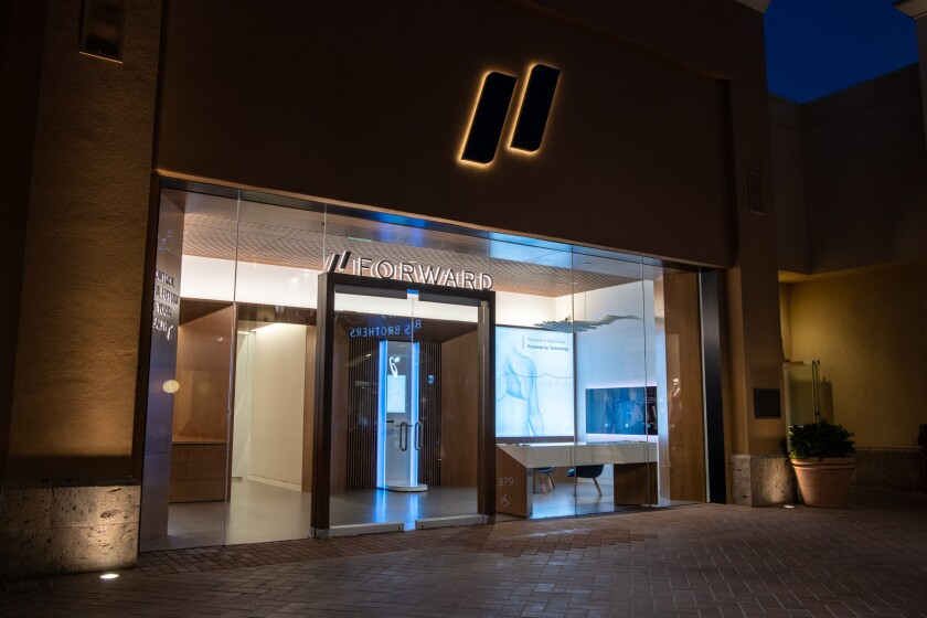 """Sometimes called the """"Apple store"""" of doctor's offices, Forward to open clinic in San Diego."""