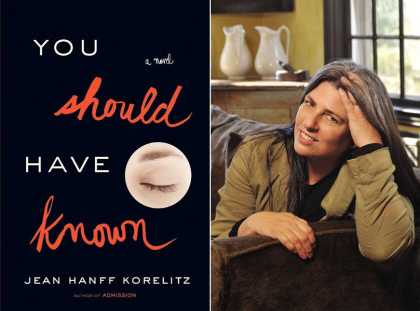 """The cover of """"You Should Have Known"""" and author Jean Hanff Korelitz."""