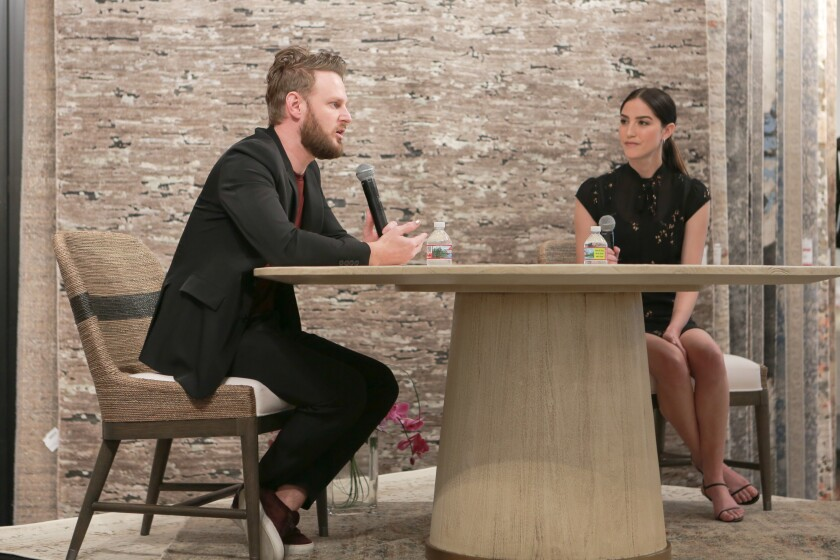 Bobby Berk visits Irvine for an event celebrating his debut furniture collection, Bobby Berk for A.R.T. Furniture, now available at Mathis Brothers Furniture at The Market Place.