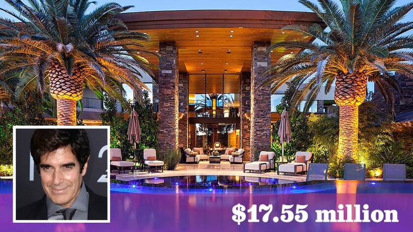 Illusionist and magician David Copperfield has paid a record $17.55 million for a 31,000-square-foot home in Las Vegas.