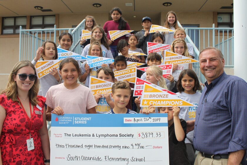 South Oceanside Elementary School recently raised funds for the Leukemia and Lymphoma Society.