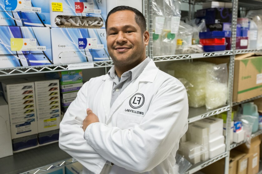 Julio de Unamuno IV, co-founder and CEO of LabFellows, has built a diverse team of 15 employees in San Diego.