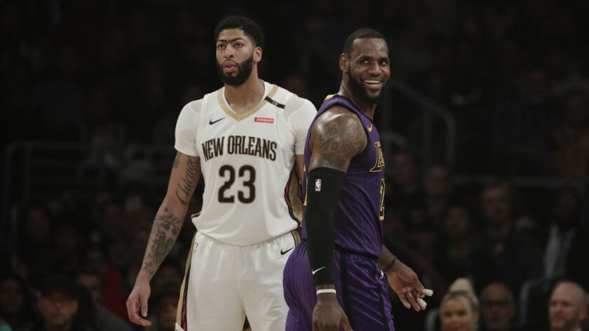 LeBron James and Anthony Davis will be teammates — at least Sunday in the All-Star game.