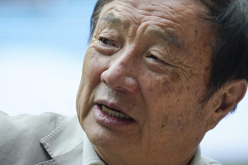 Ren Zhengfei, founder and president of Huawei, during an interview at Huawei's Shenzhen campus in March.